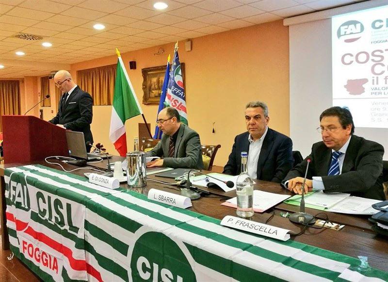 Di Varsavia confermato dal congresso alla guida della Fai Cisl di Foggia