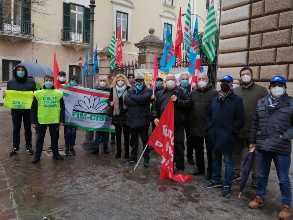 Sciopero pubblico impiego: a Foggia presidio unitario dinanzi la Prefettura