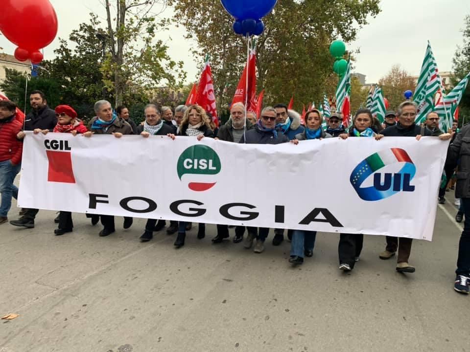 Cgil Cisl e Uil Foggia aderiscono e sostengono la campagna #LiberaFoggiadallamafia
