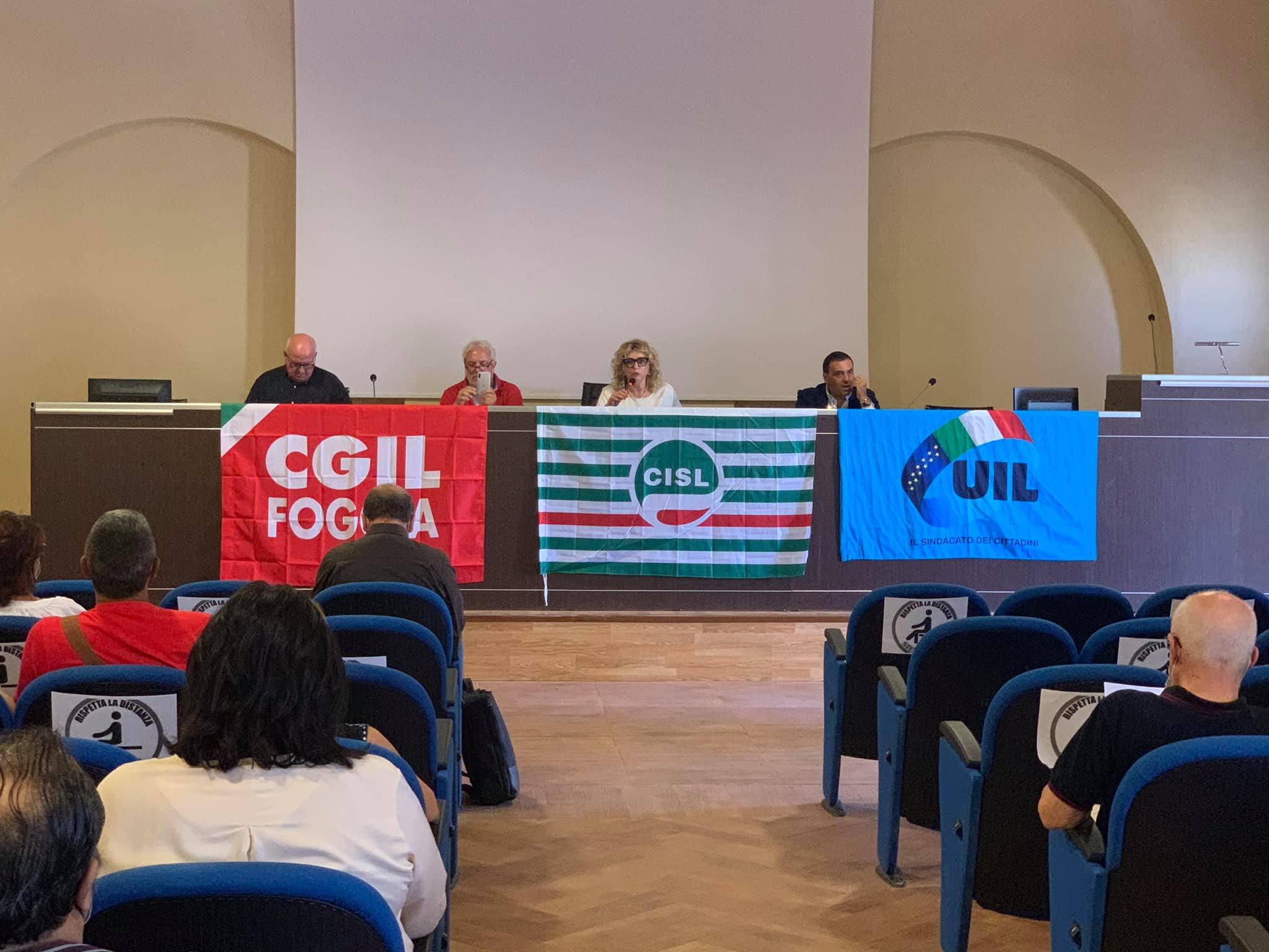 """Cgil, Cisl e Uil Foggia: """"Preoccupati per il livello dei servizi ai cittadini""""."""